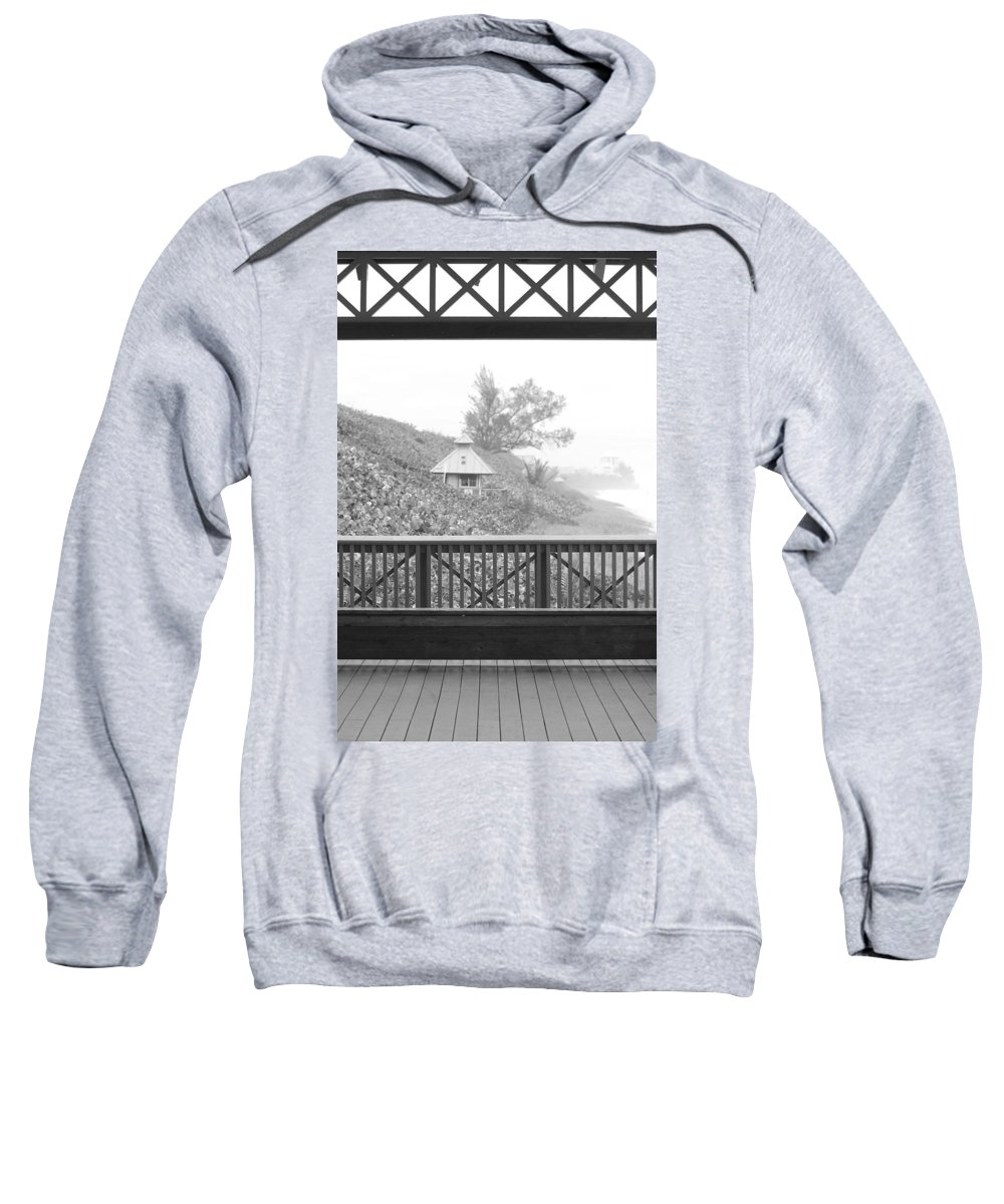 Black And White Sweatshirt featuring the photograph Trees On The Hill by Rob Hans