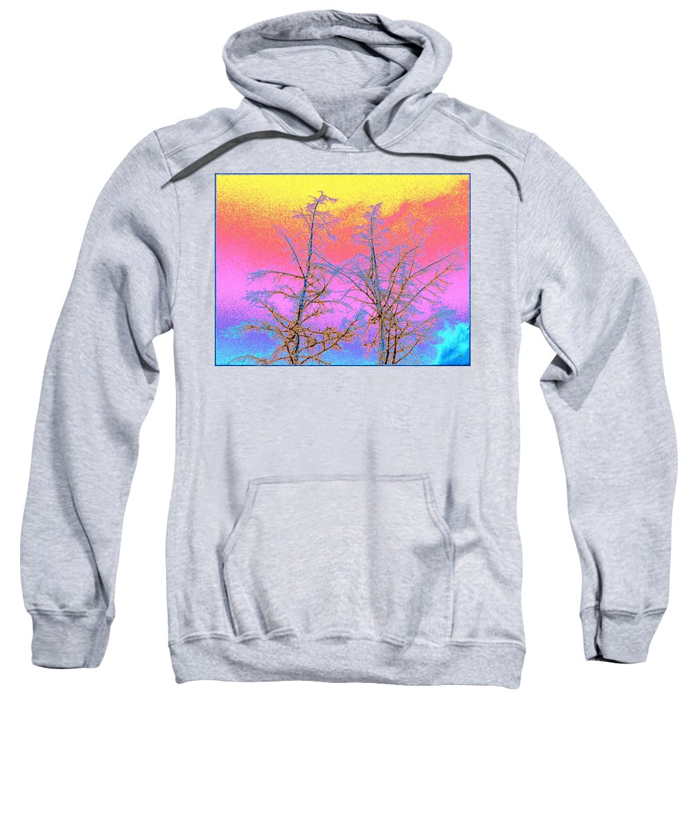 Abstract Sweatshirt featuring the digital art Treetops 1 by Will Borden