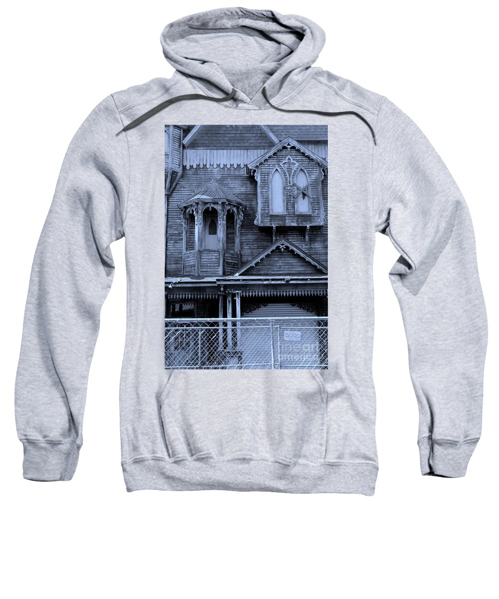 Haunted House Sweatshirt featuring the photograph Trespass If You Dare by Mesa Teresita