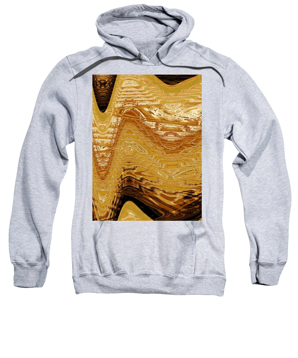 Abstract Sweatshirt featuring the digital art Tribal Abstract by Lenore Senior