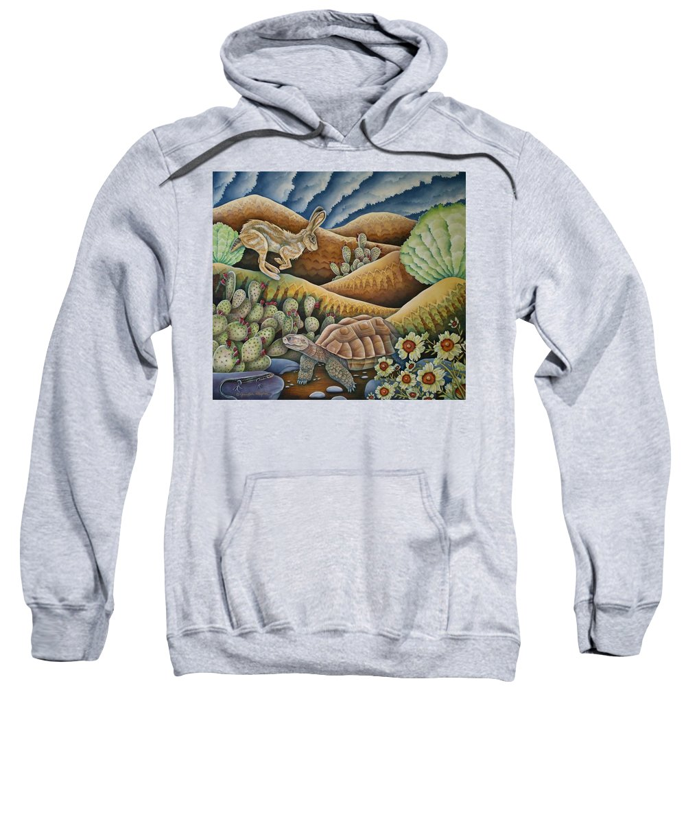 Aesop Sweatshirt featuring the painting Tribute To Aesop by Jeniffer Stapher-Thomas