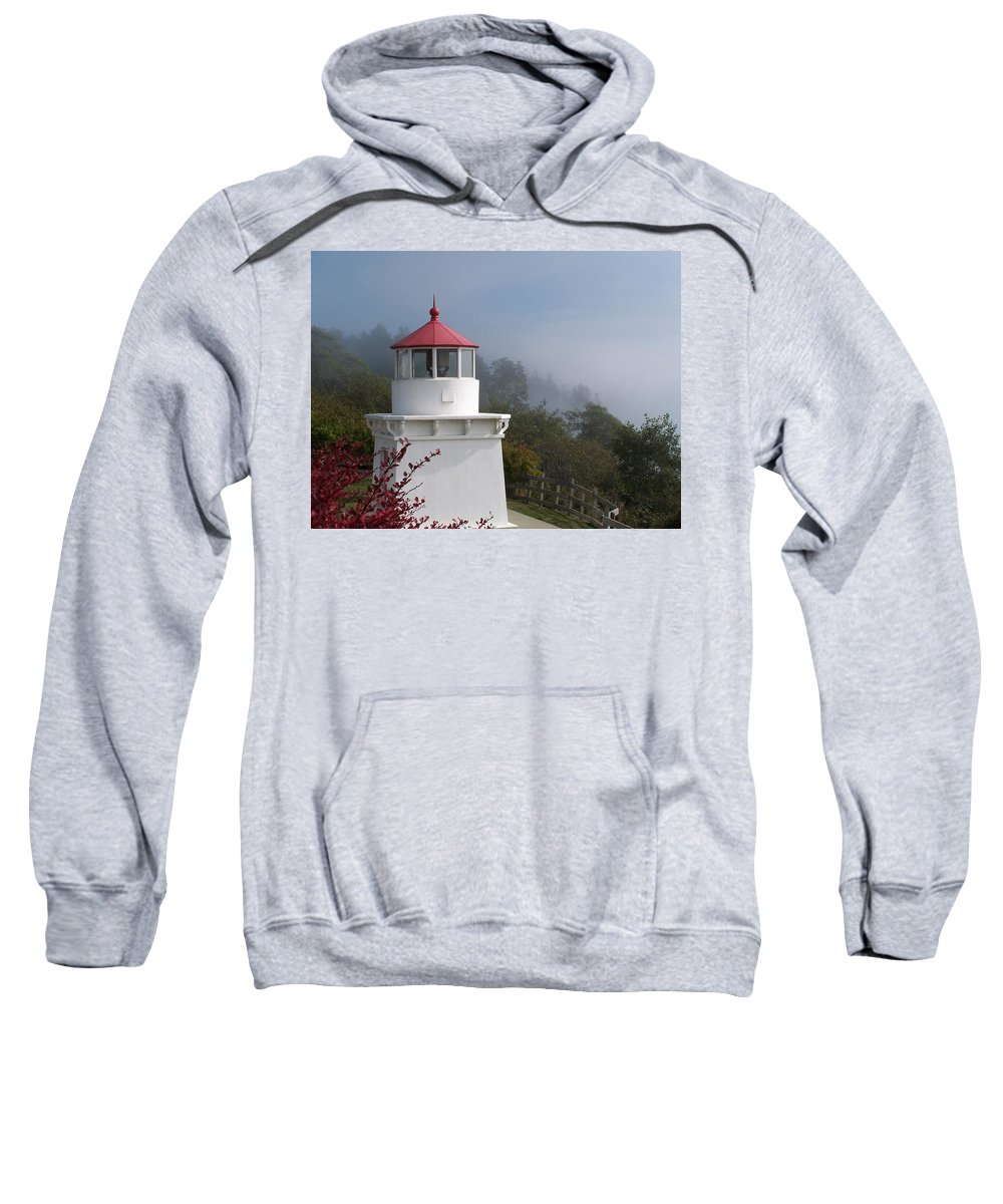 Lighthouse Sweatshirt featuring the photograph Trinidad Head Lighthouse by Gale Cochran-Smith