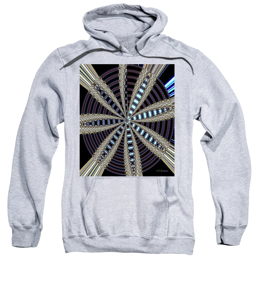 Triple Abstract Sweatshirt featuring the photograph Triple Abstract by Tom Janca