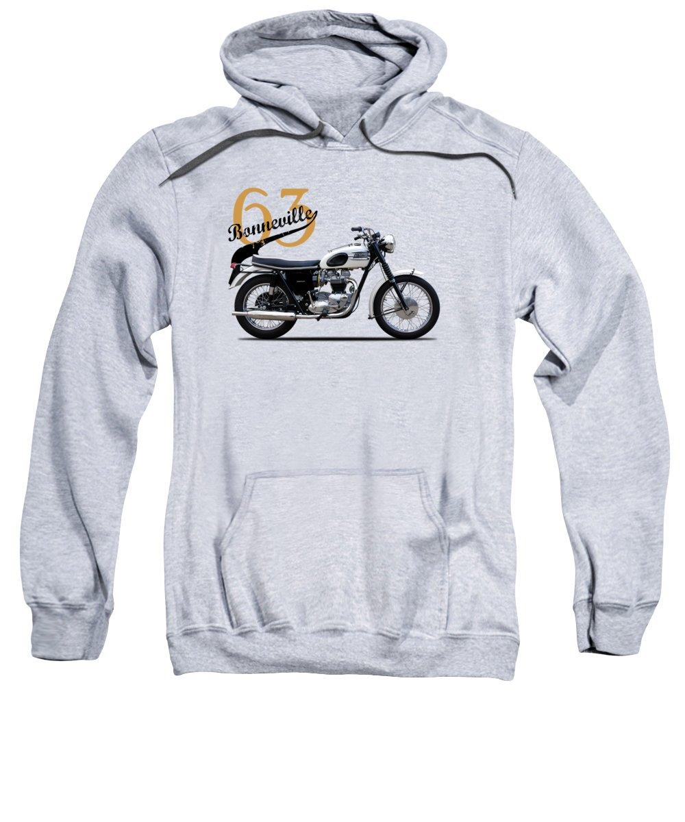 Motorcycle Sweatshirt featuring the photograph Triumph Bonneville 1963 by Mark Rogan