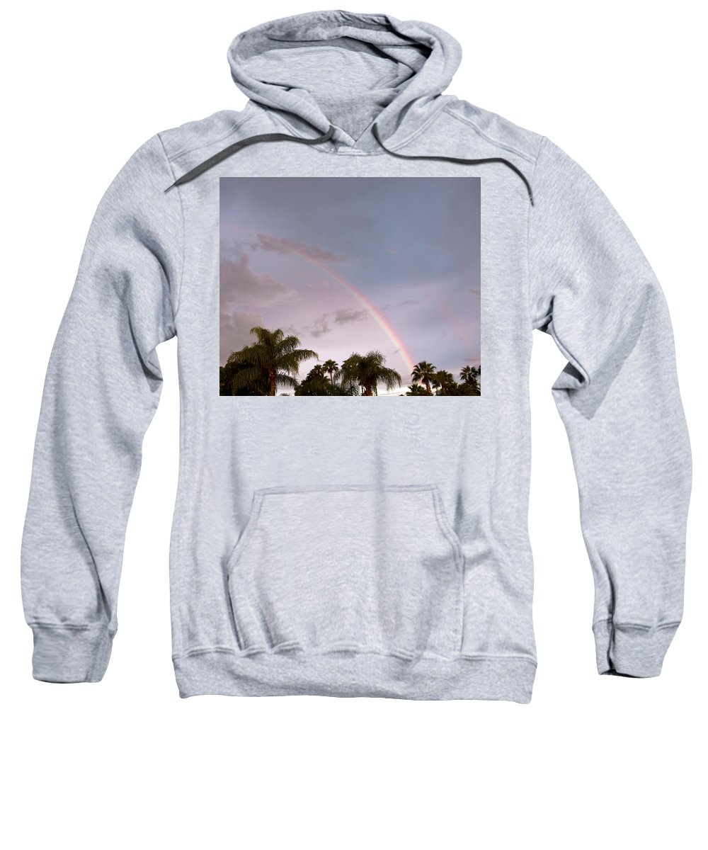 Tropic Sweatshirt featuring the photograph Tropic Rainbow In Florida by Allan Hughes