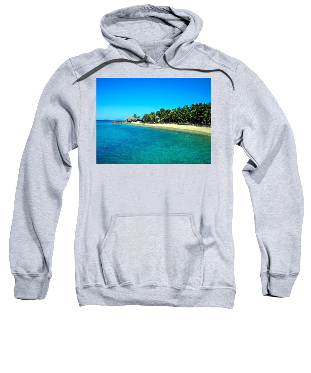 Beach Sweatshirt featuring the photograph Tropical Bliss by Betty Buller Whitehead