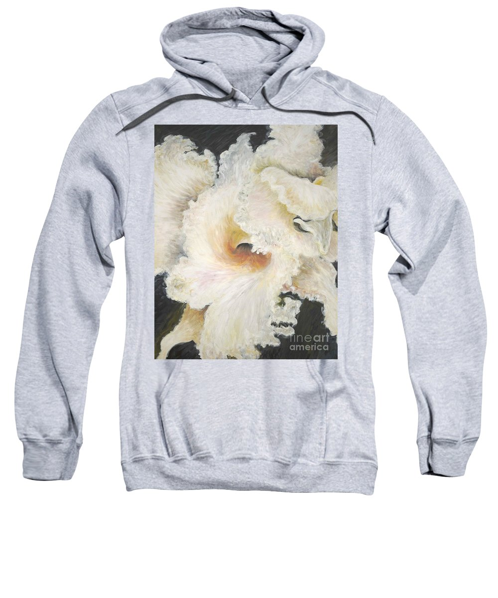 Flower Sweatshirt featuring the painting Tropical Flowers by Nadine Rippelmeyer