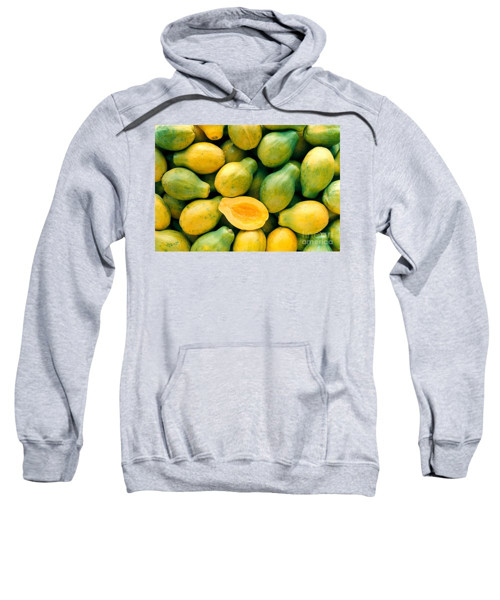 Arrange Sweatshirt featuring the photograph Tropical Papayas by Greg Vaughn - Printscapes