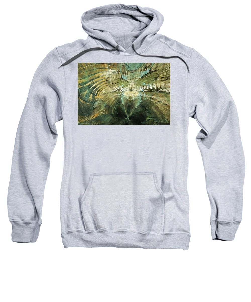 Tropical Sweatshirt featuring the digital art Tropical Paradise by Paulette Chaparro