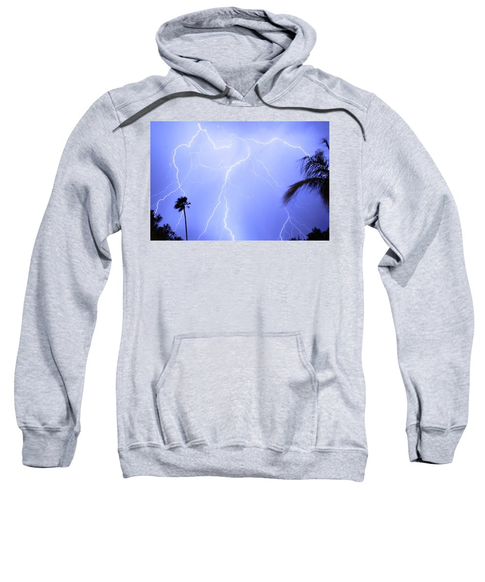 Lightning Sweatshirt featuring the photograph Tropical Storm by James BO Insogna
