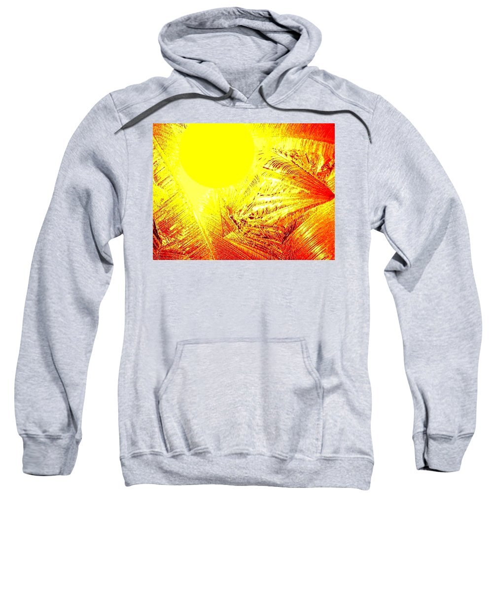 Abstract Sweatshirt featuring the digital art Tropical Sunrise by Will Borden