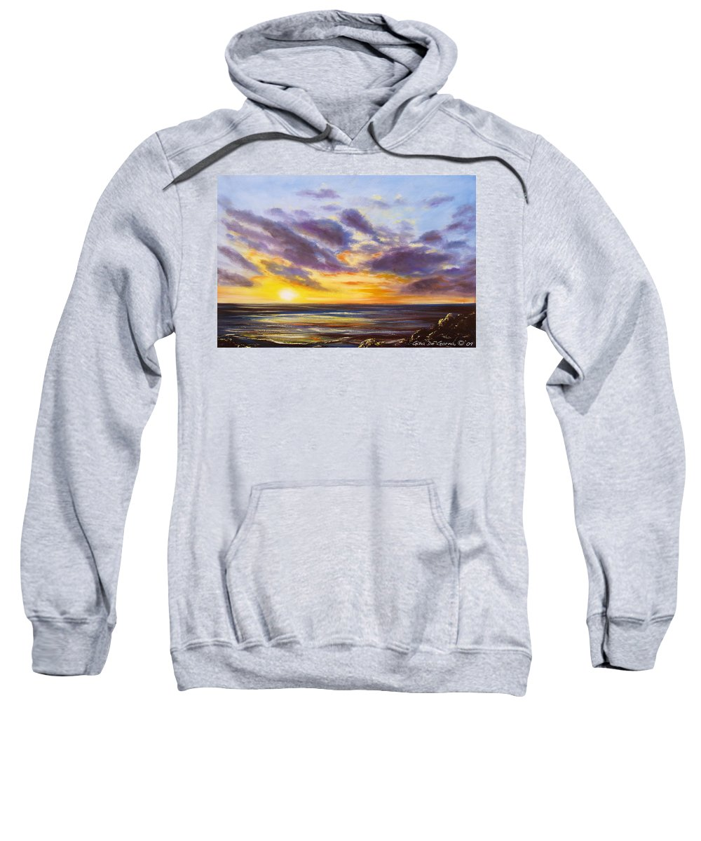 Oil Sweatshirt featuring the painting Tropical Sunset by Gina De Gorna