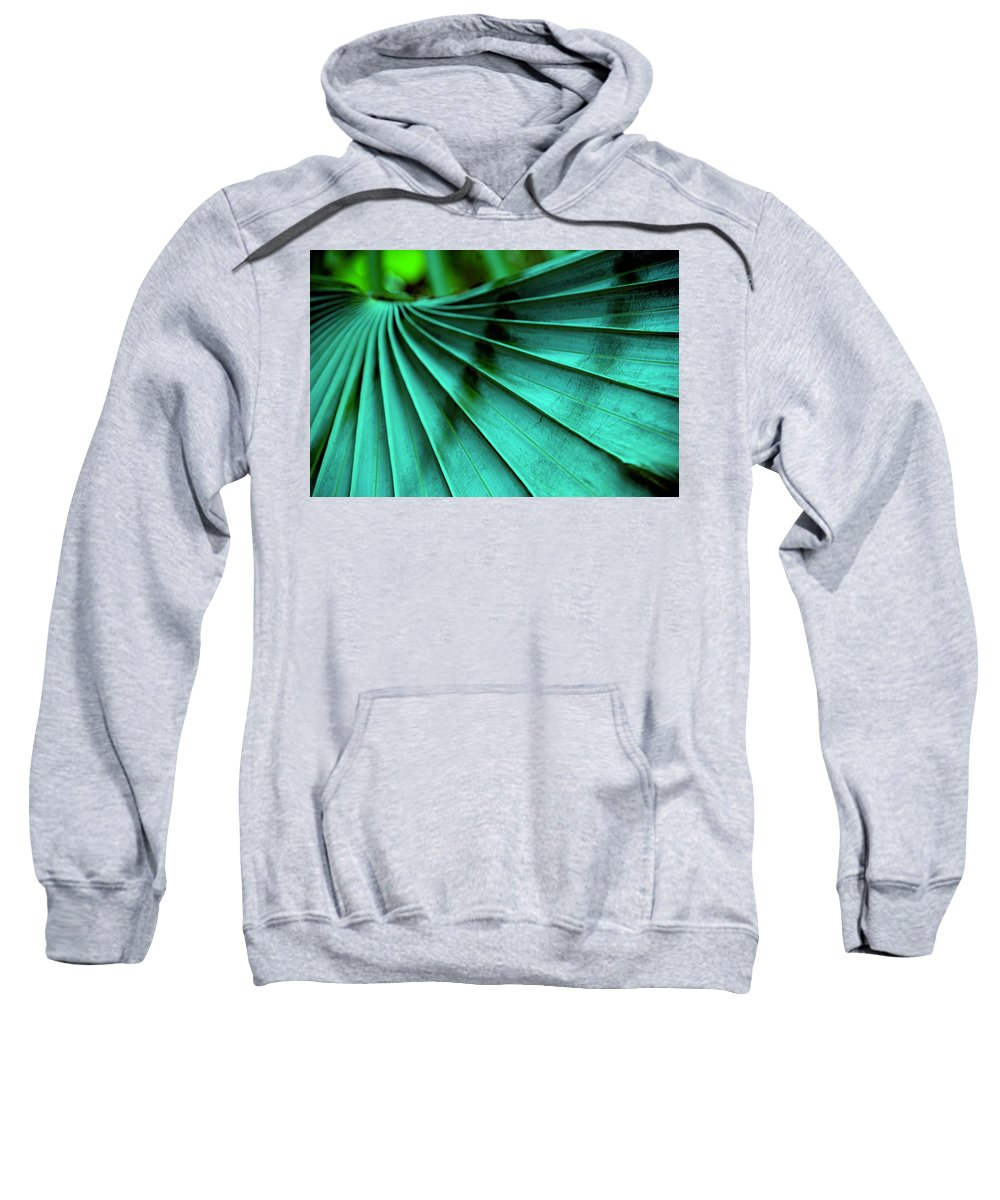 Silver Palm Leaf Sweatshirt featuring the photograph Tropical Wings by Susanne Van Hulst