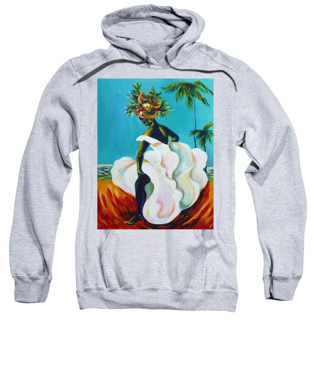 Travel Sweatshirt featuring the painting Tropicana by Anna Duyunova