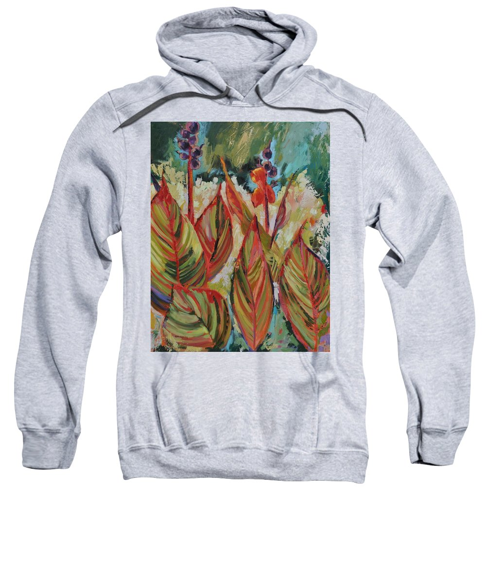 Tropicana Sweatshirt featuring the painting Tropicana by Ginger Concepcion