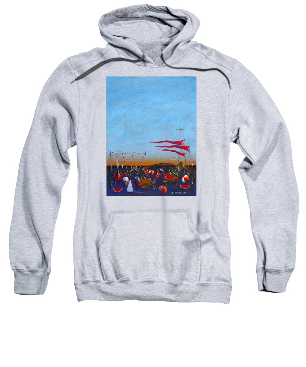 Piano Sweatshirt featuring the painting Trumpets Of The Mediterranean by Dimitris Milionis