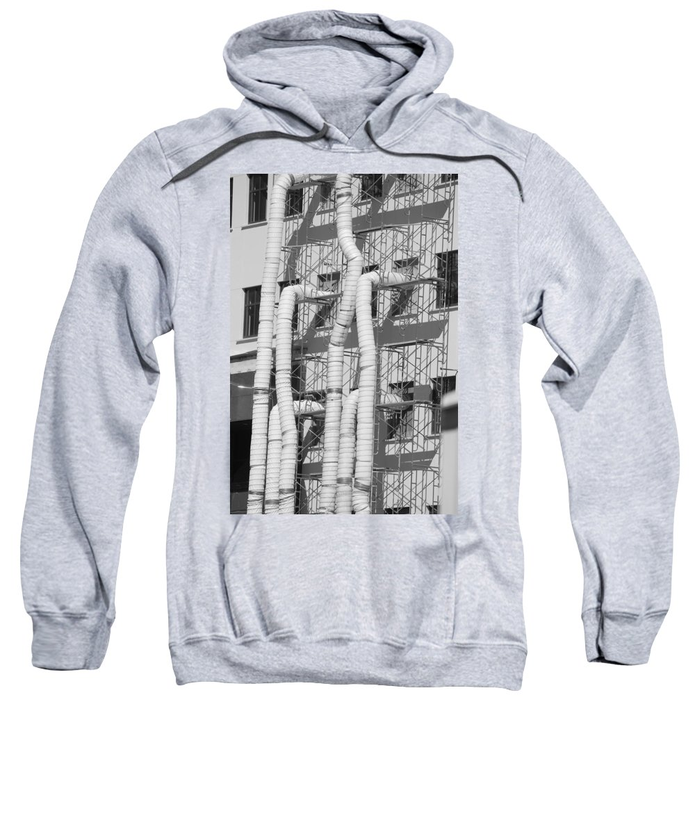 Tubes Sweatshirt featuring the photograph Tube Construction by Rob Hans
