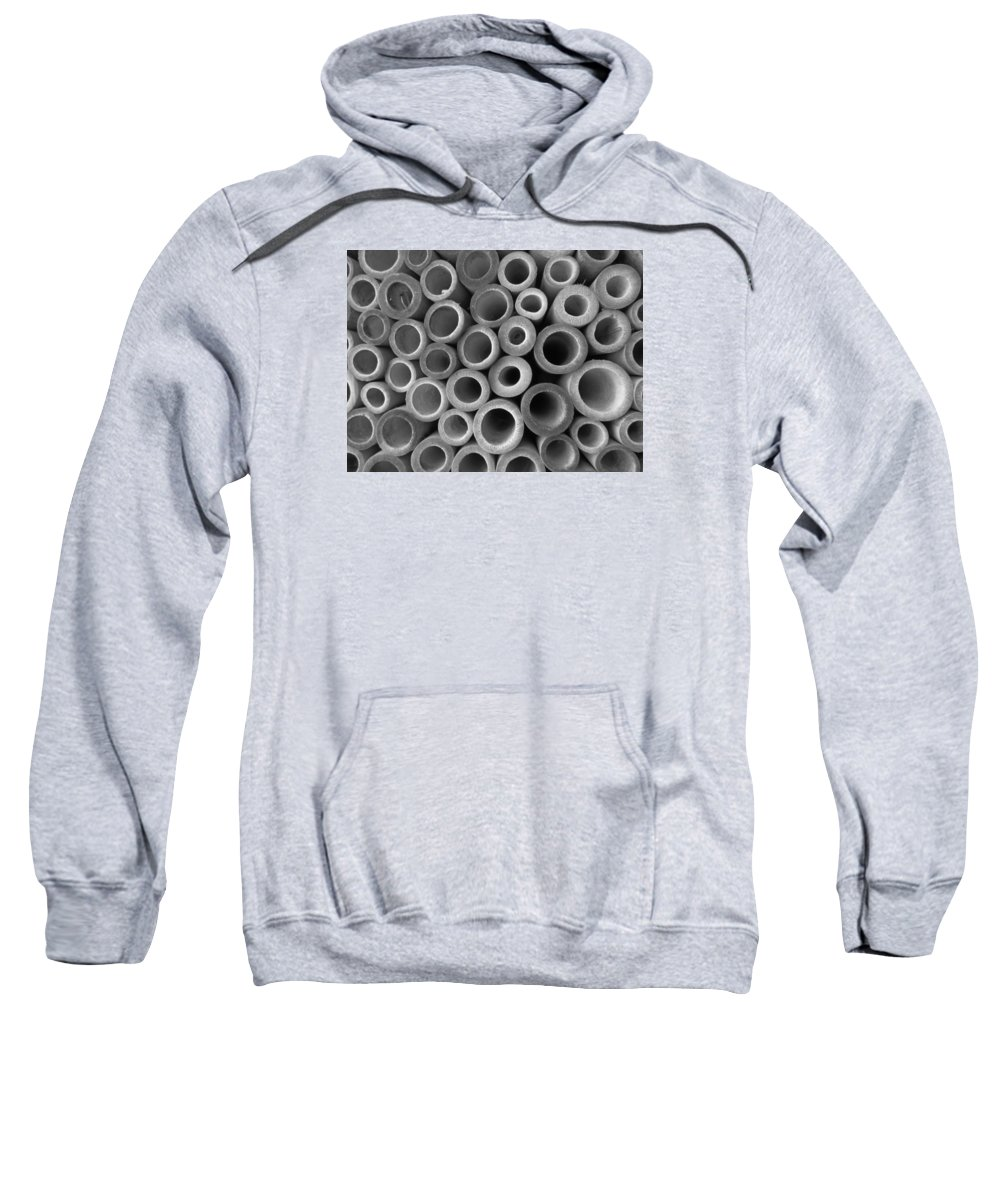 Abstract Sweatshirt featuring the photograph Tubes by Cindy Kellogg