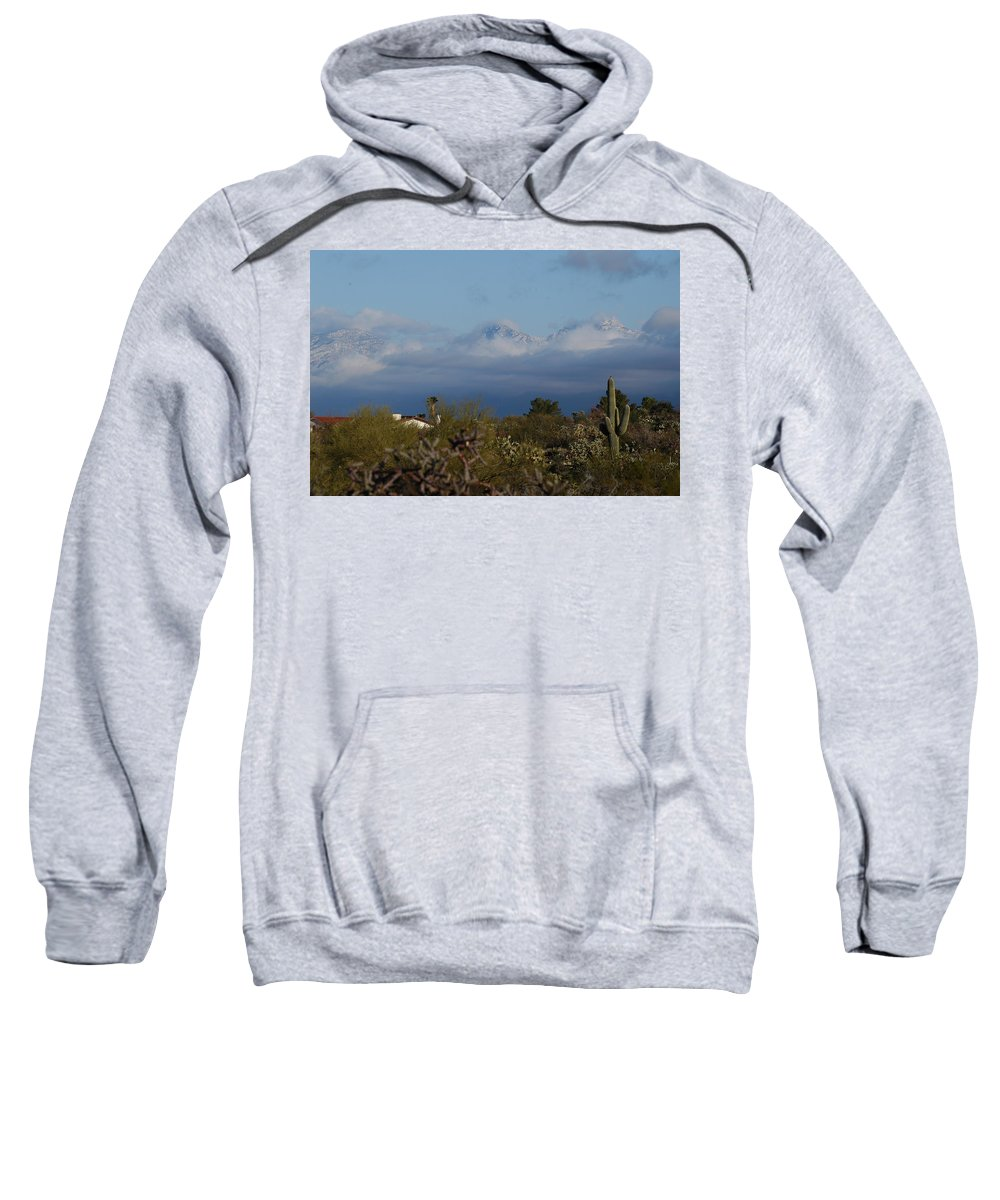 Tucson Sweatshirt featuring the photograph Tucson In Winter by Teresa Stallings