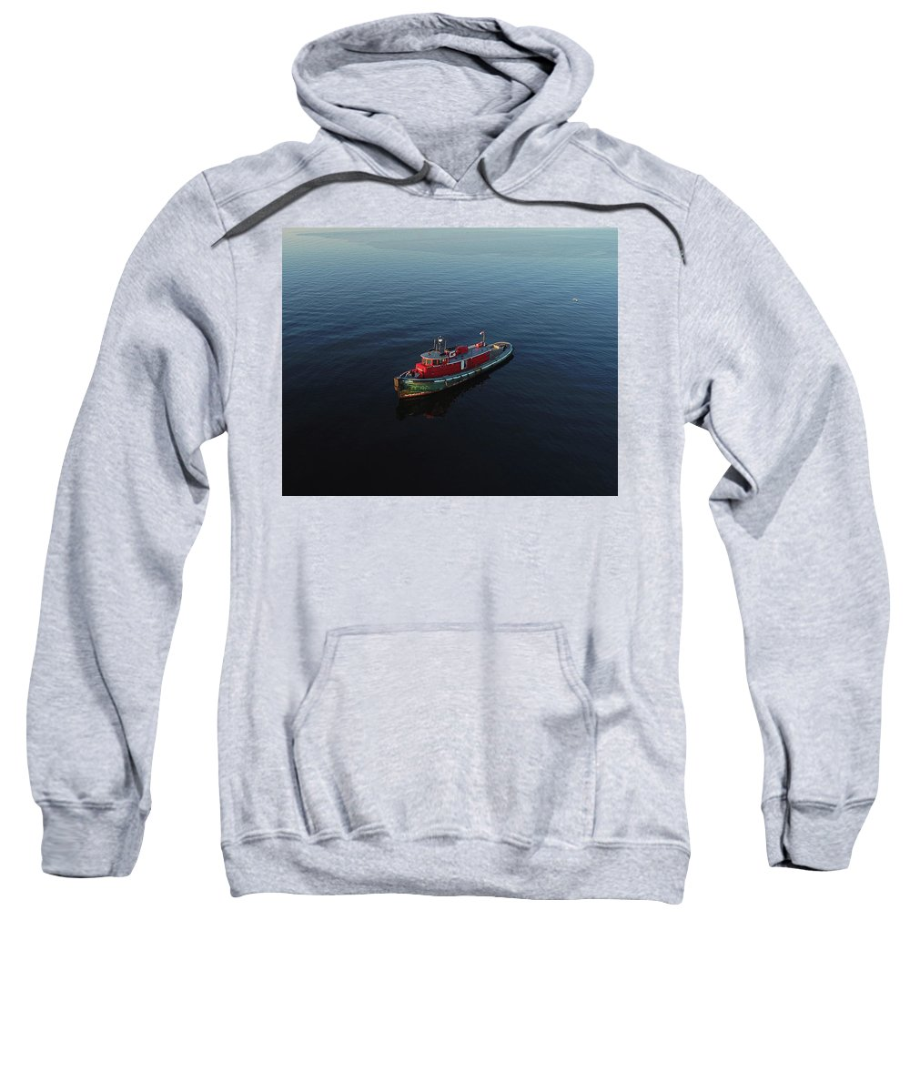 Tug Boat Sweatshirt featuring the photograph Tug Boat by Steve Bell