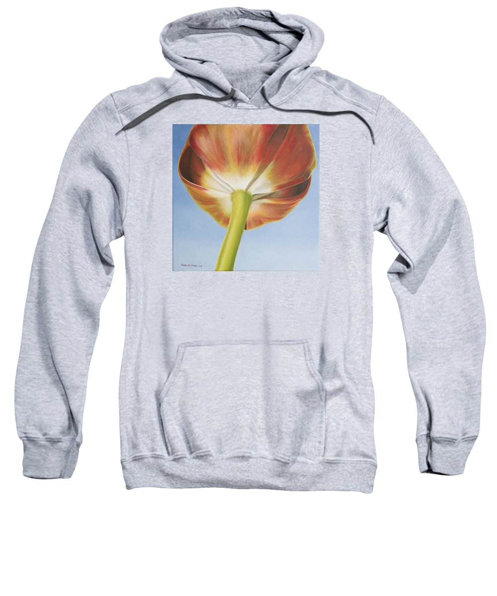Flower Sweatshirt featuring the painting Tulip by Rob De Vries