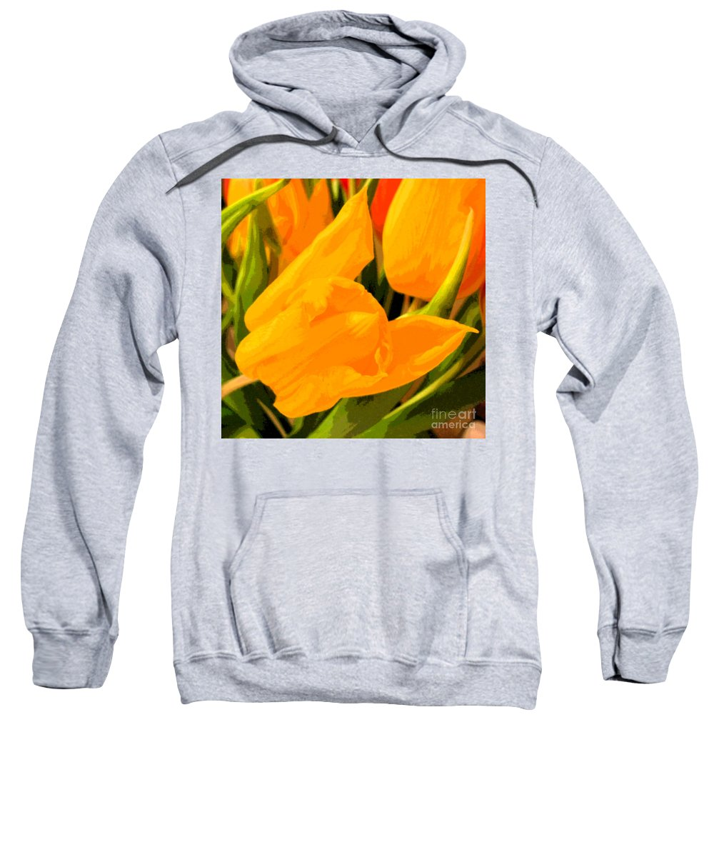 Tulip Sweatshirt featuring the photograph Tulips by Amanda Barcon
