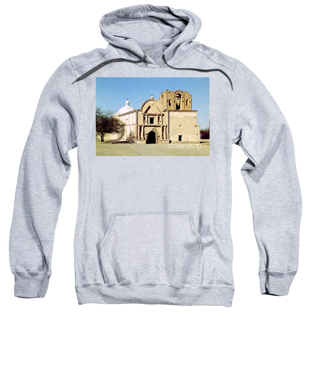 Mission Sweatshirt featuring the photograph Tumacacori by Kathy McClure