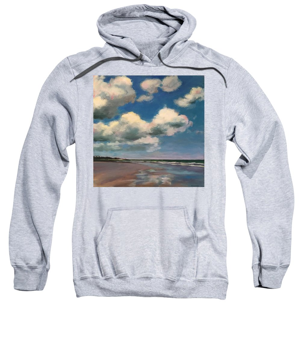 Sweatshirt featuring the painting Tumbling Clouds by Rachel Sunnell