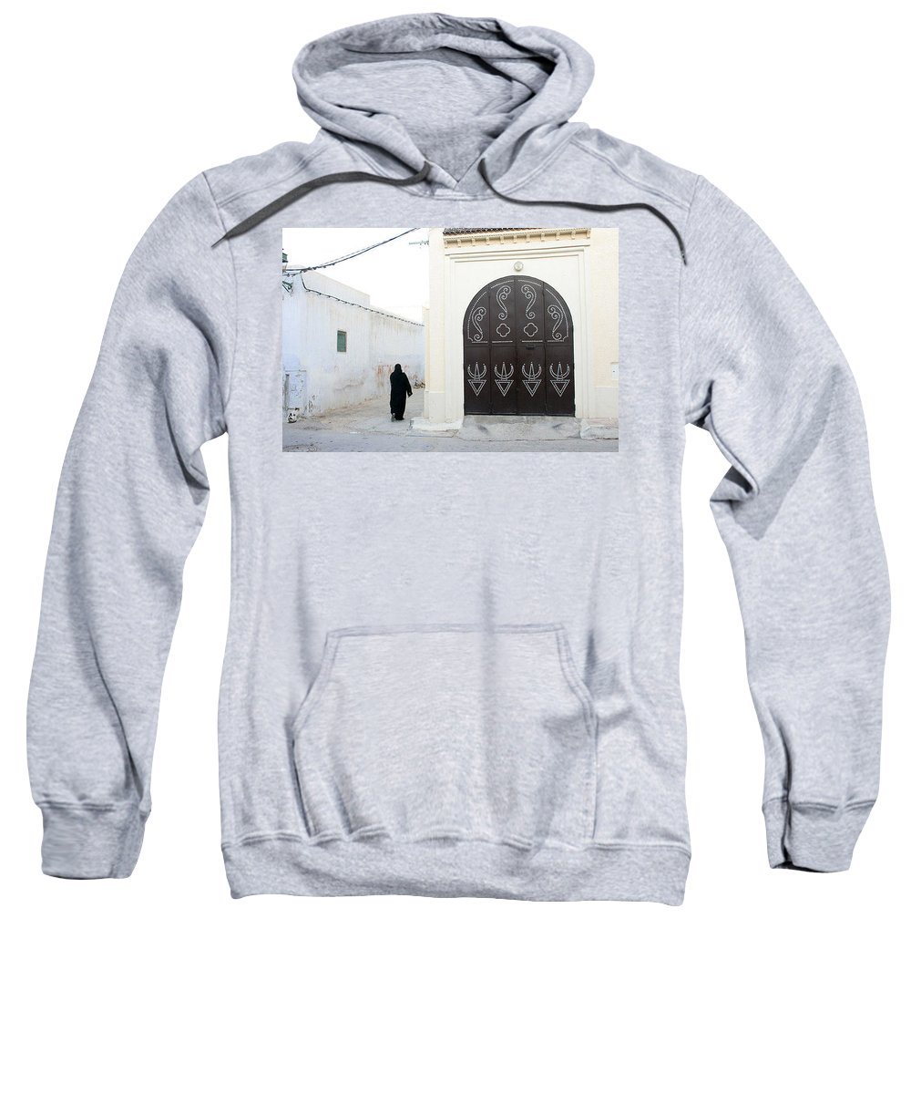 Tunisiandoor Sweatshirt featuring the photograph Tunisiandoor3 by Yesim Tetik