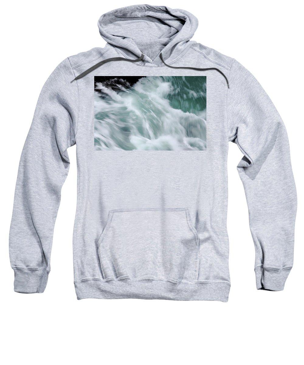 Sea Sweatshirt featuring the photograph Turbulent Seas by Donna Blackhall