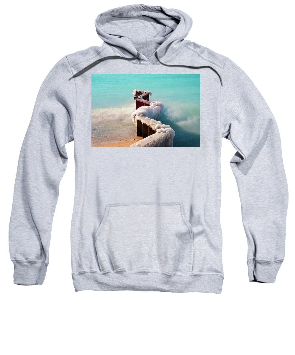 Winter Sweatshirt featuring the photograph Turquoise by LaNae Riviere Loyd