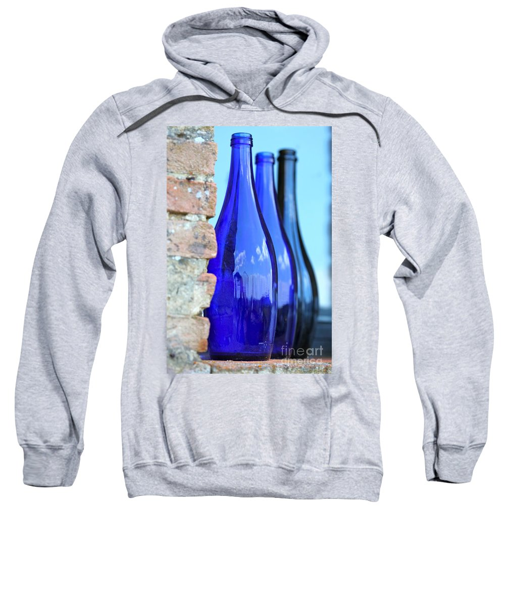 Blue Sweatshirt featuring the photograph Tuscan Blue Reflections by Nadine Rippelmeyer
