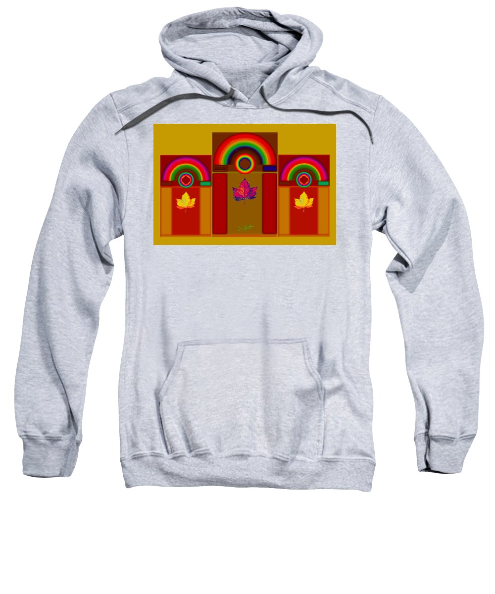 Classical Sweatshirt featuring the digital art Tuscan Harvest by Charles Stuart