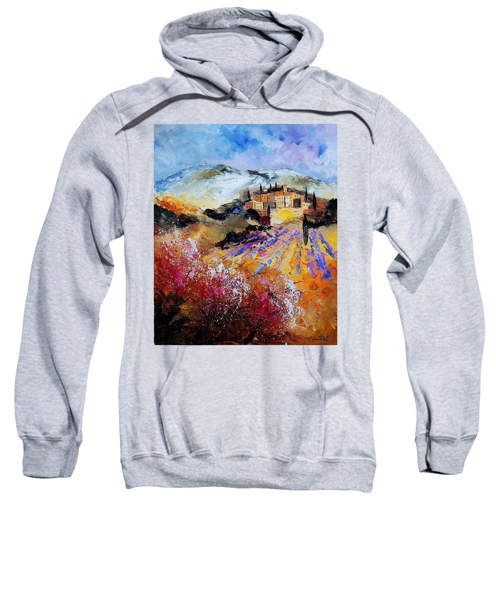 Provence Sweatshirt featuring the painting Tuscany 56 by Pol Ledent