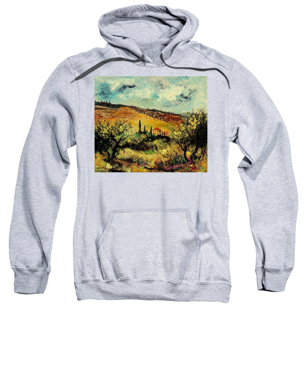 Provence Sweatshirt featuring the painting Tuscany 67 by Pol Ledent