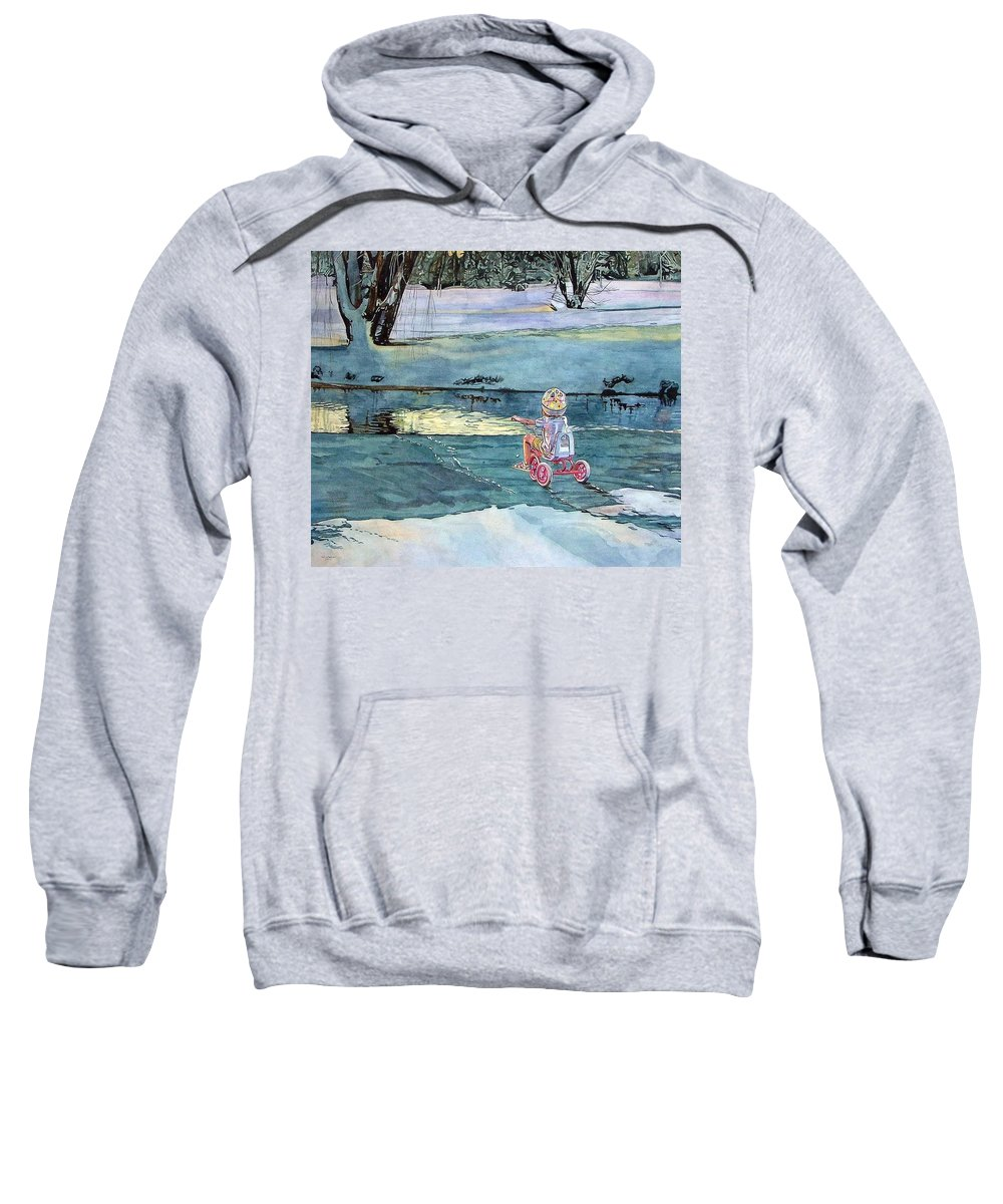Children Sweatshirt featuring the painting Twilight by Valerie Patterson