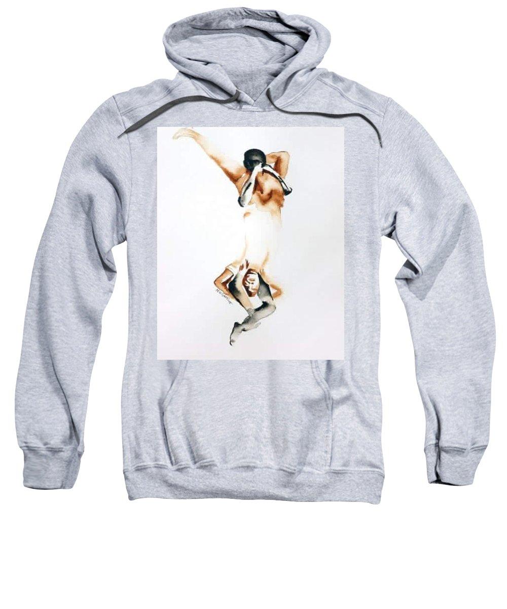 Figurative Sweatshirt featuring the painting Twins by Murali Gatti