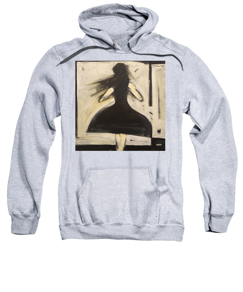 Twirl Sweatshirt featuring the painting Twirling by Tim Nyberg
