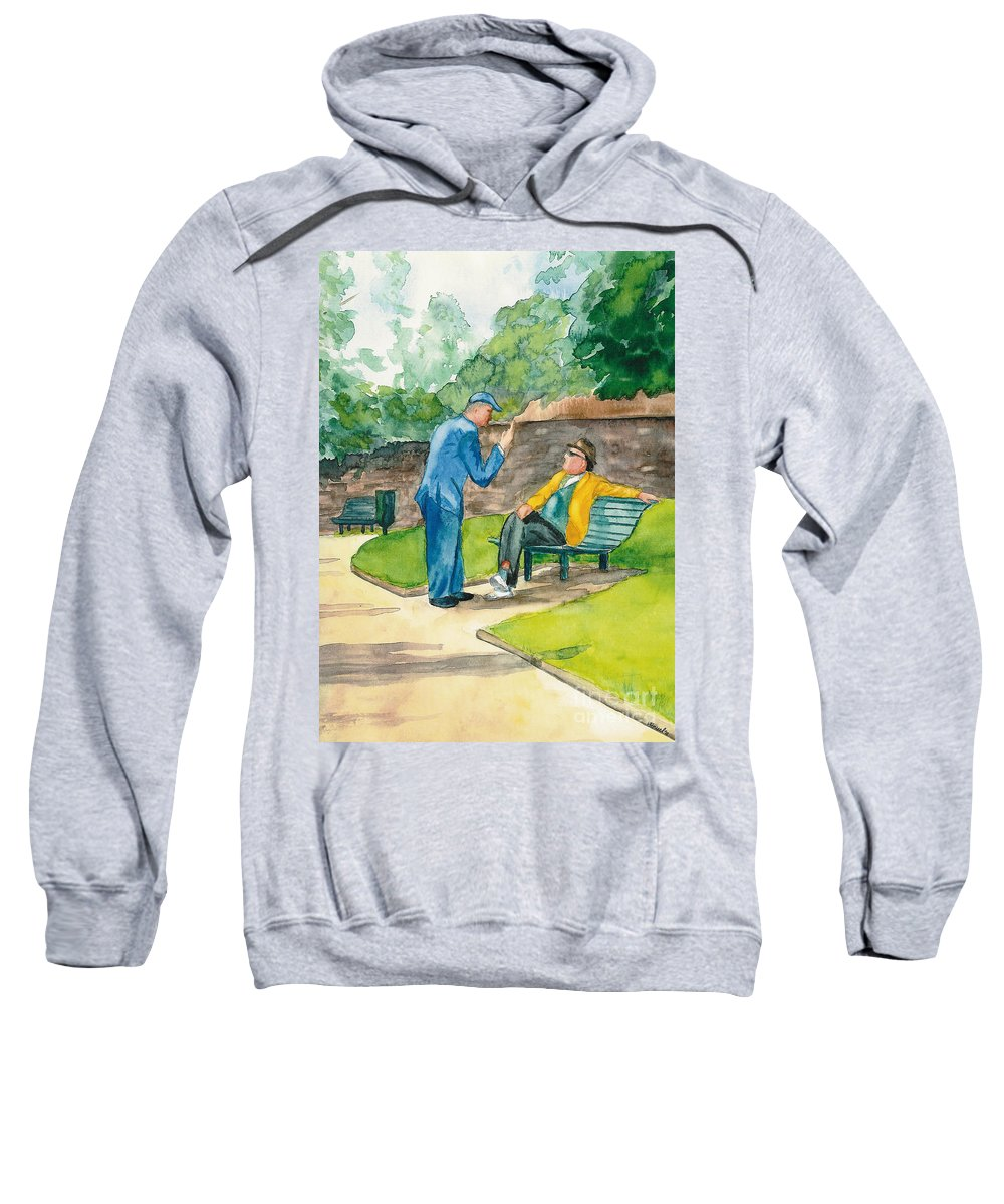 Watercolor Sweatshirt featuring the painting Two Englishmen In Conversation by Vicki Housel