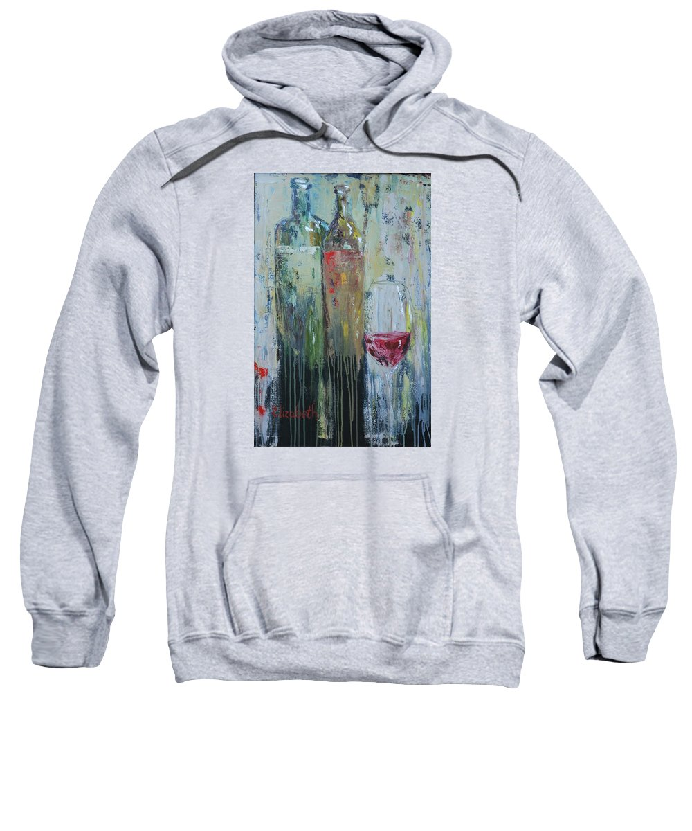 Wine Sweatshirt featuring the painting Two For One by Beth Maddox