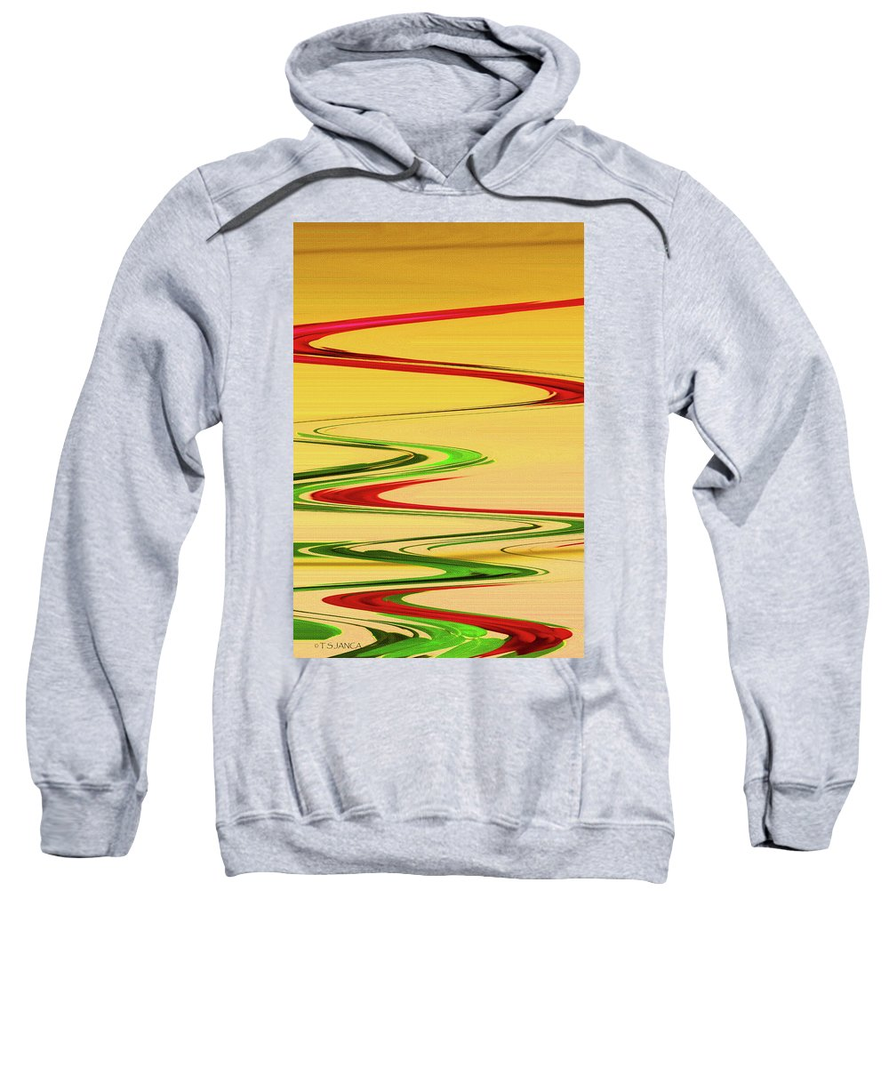 Two Red Roses Abstract Sweatshirt featuring the photograph Two Red Roses Abstract by Tom Janca