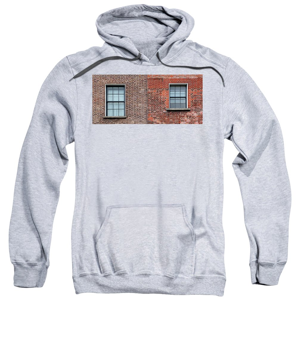 Window Sweatshirt featuring the photograph Two Windows by Dia Karanouh