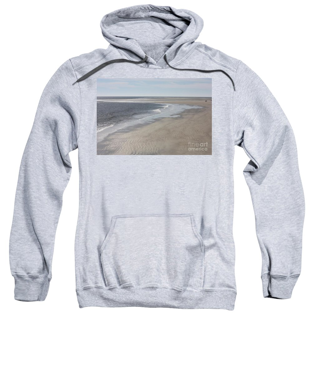 Tybee Island Sweatshirt featuring the photograph Tybee Island Beach by Carol Groenen