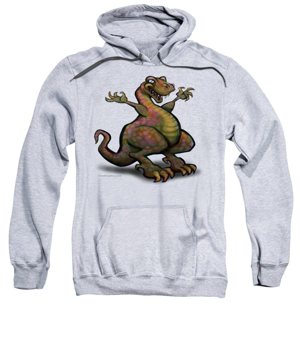 Tyrannosaurus Sweatshirt featuring the digital art Tyrannosaurus Rex by Kevin Middleton
