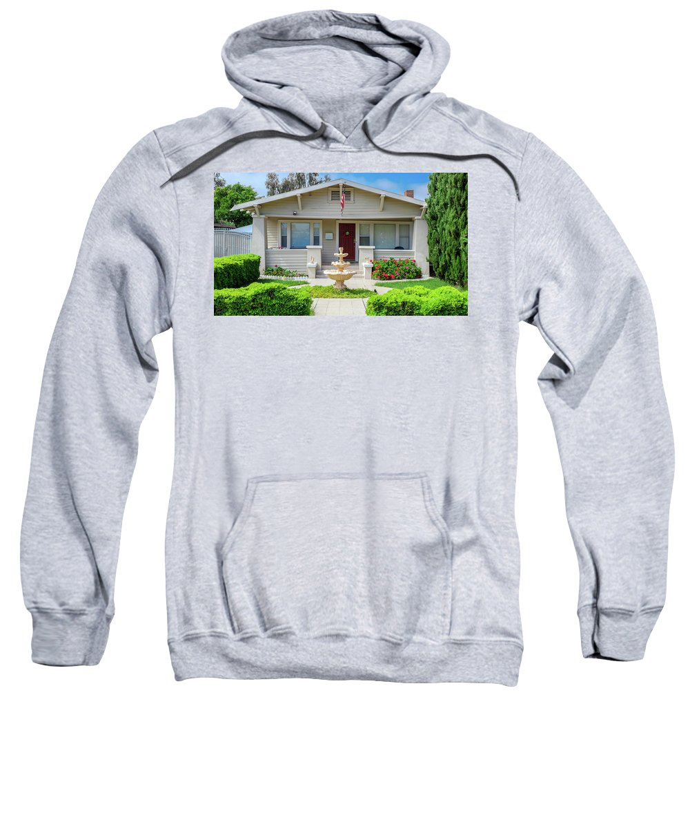Arts And Crafts Sweatshirt featuring the photograph Suburban Arts And Crafts Hayward California 18 by Kathy Anselmo