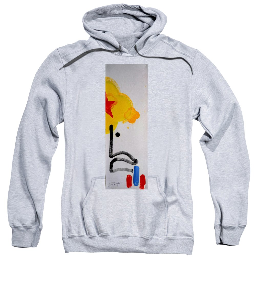 Drawing Sweatshirt featuring the painting UN by Charles Stuart