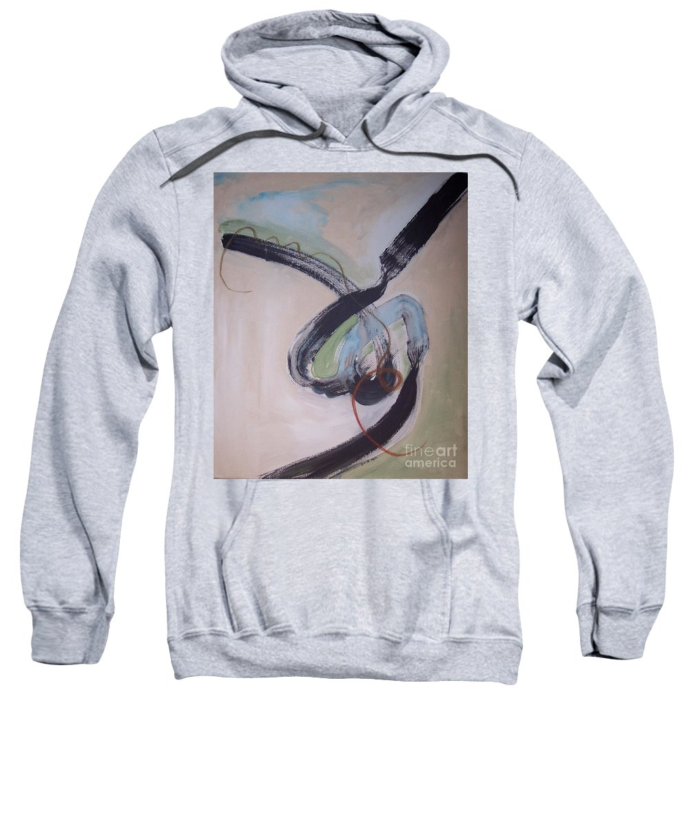 Abstract Paintings Sweatshirt featuring the painting Unaccustomed Thought-abstract Art by Seon-Jeong Kim