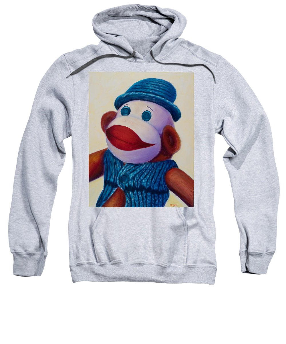 Children Sweatshirt featuring the painting Uncle Frank by Shannon Grissom