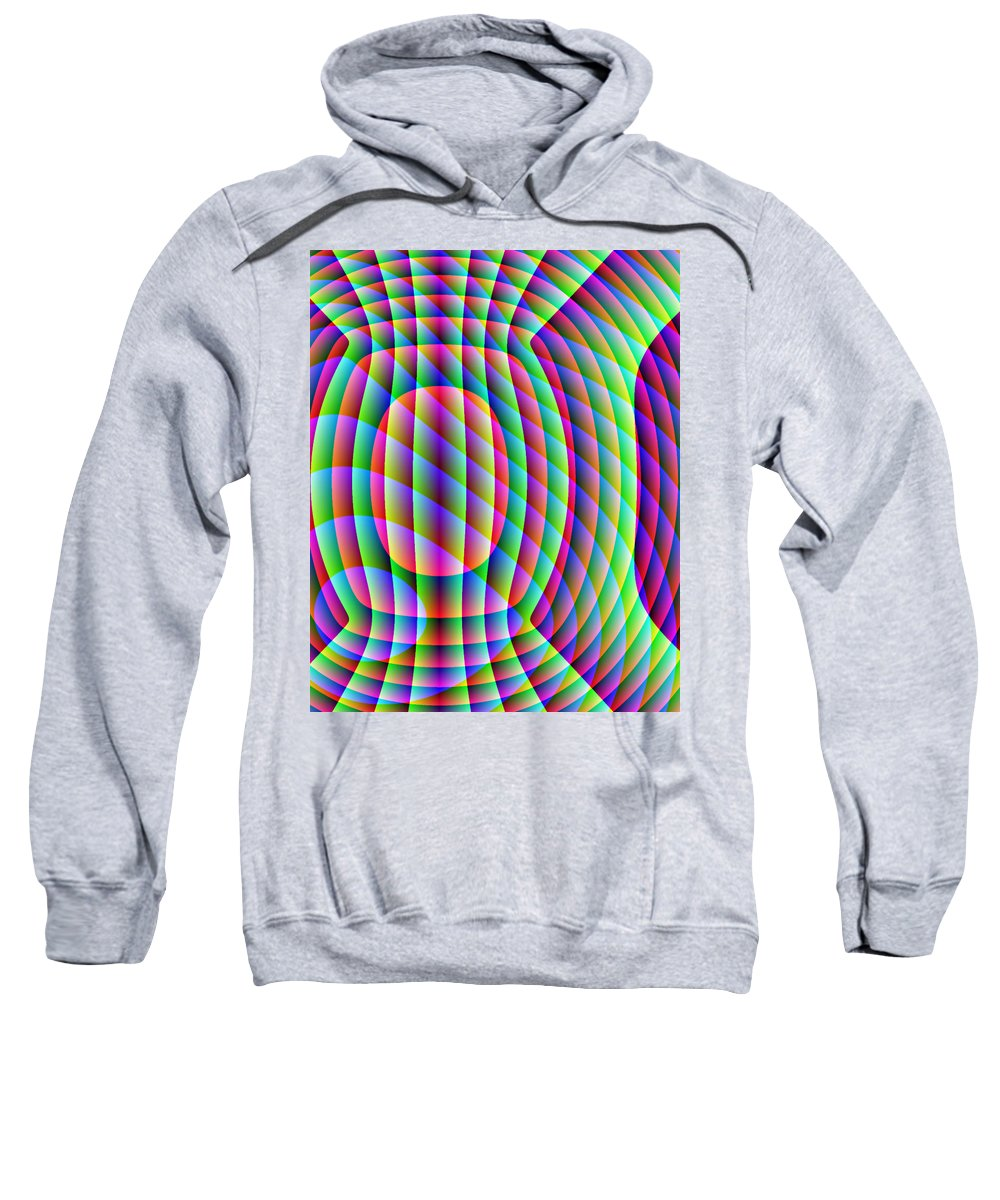 Electronic Sweatshirt featuring the digital art Uncollared Colors Three by Joel Kahn
