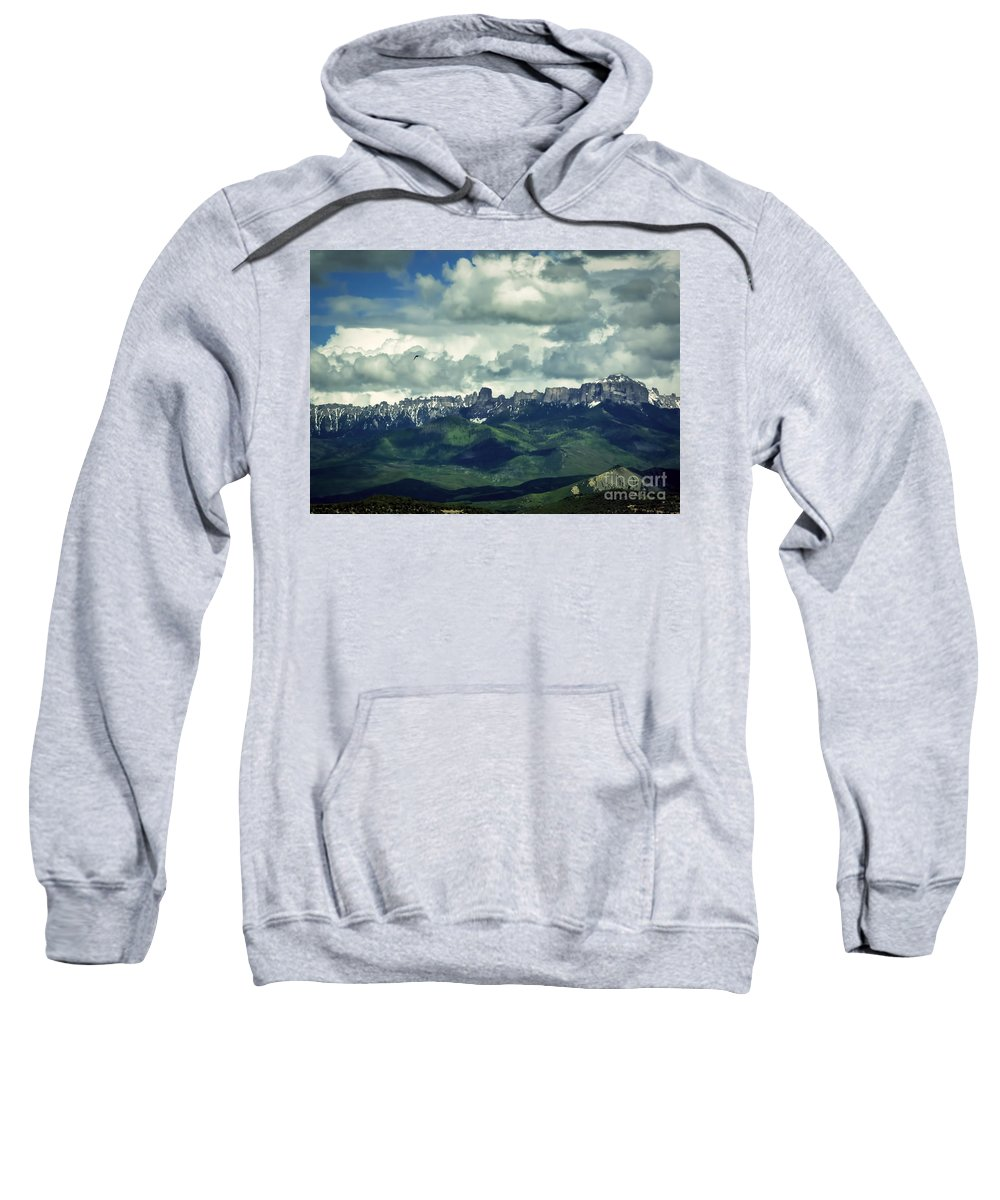 Colorado Sweatshirt featuring the photograph Uncompahgre Colorado Alpine by Janice Pariza